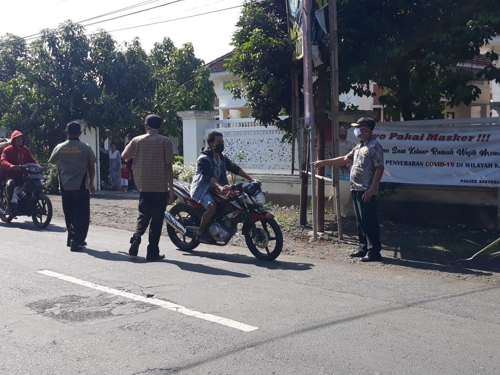 Giat hari ini Operasi Wajib Masker Jl Raya Randuagung